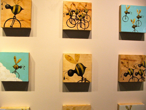 Beecycles by Richmond artist Matt Lively, Cedar Works Gallery, Rocketts Landing, Richmond Virginia